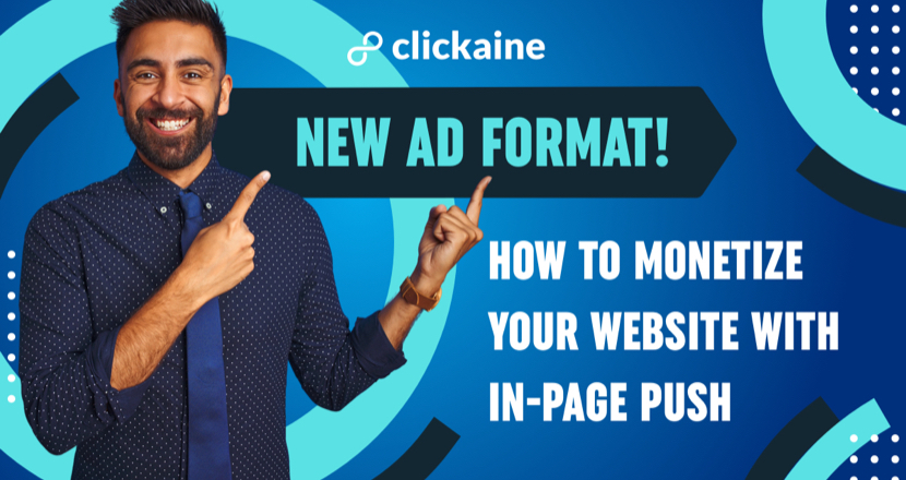 NEW Ad format! How to monetize your website with In-page Push