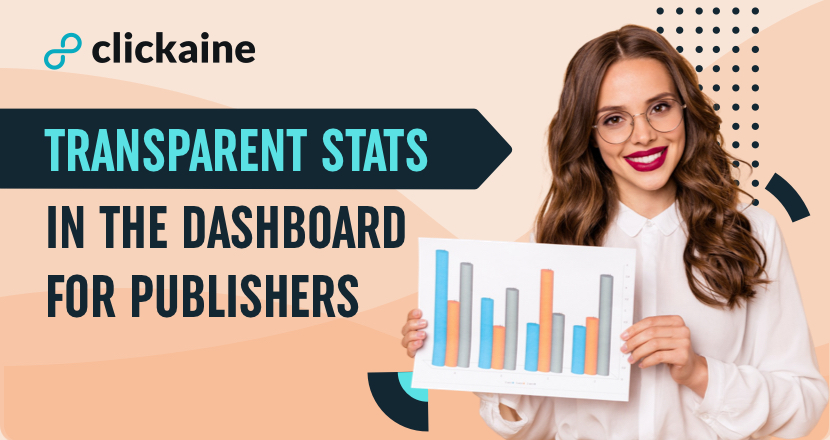 Transparent Stats in the dashboard for Publishers
